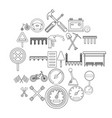roadbed icons set outline style vector image vector image