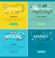 set of conceptual business web banners vector image