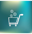 shopping cart with money vector image