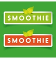Smoothie label sign vector image vector image