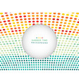 summer time of colorful dot in nature tone vector image vector image
