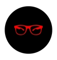 Sunglasses sign Red icon vector image vector image