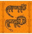 Tiger and Leo vector image