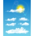 Transparent realistic clouds Full-time sky with vector image vector image