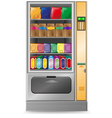 Vending snack is a machine isolated on white backg vector image