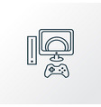 video game icon line symbol premium quality vector image