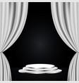 white theatre curtain vector image
