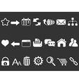 white web internet icons set vector image vector image