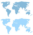 World map template in vector image