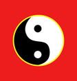 yin yang balance symbol graphic vector image vector image