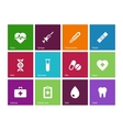 Medical icons on color background vector image