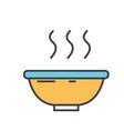 soup bowl concept line icon editable vector image
