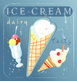 A delicious different ice cream vector image vector image