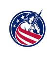 american patriot usa flag icon vector image