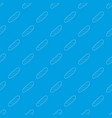 baguette pattern seamless blue vector image