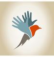 Bird a hand2 vector image vector image
