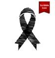 Black awareness ribbon vector image vector image