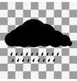 Black Cloud Icon on transparent vector image vector image