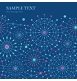 Blue Abstract Line Art Circles Horizontal vector image vector image