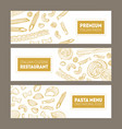 bundle of horizontal web banners with various vector image