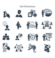 Business presentation teamwork concept icons vector image vector image