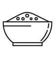 chili pepper bowl icon outline style vector image vector image