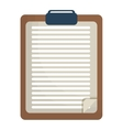 clipboard with sheet icon image vector image