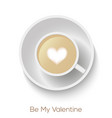 coffee cup with hears form vector image