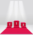 competition winners podium or pedestal 3d vector image