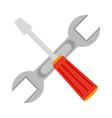 construction crossed symbol vector image