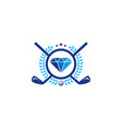 diamond golf logo icon design vector image