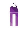 fitness bottle icon vector image