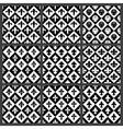 Fleur de lis seamless patterns set vector image vector image
