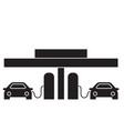 fuel station black concept icon fuel vector image