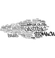Gastric word cloud concept
