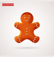 gingerbread man christmas cookie vector image