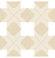 golden geometric seamless pattern with lines vector image vector image