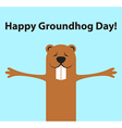 Groundhog day funny cartoon character of marmot vector image