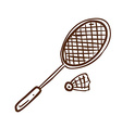 Hand Drawn Badminton Set vector image