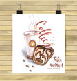 hand drawn coffee coffee logo hand drawn isolated vector image