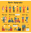 Hipster Infographics vector image vector image