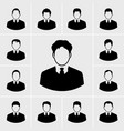 icons business man set vector image vector image