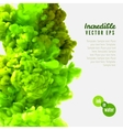 Incredible green ink in water vector image vector image
