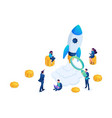 isometric concept of investing in startups vector image