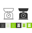 kitchen scale simple black line icon vector image vector image