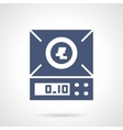 Laboratory scales glyph style icon vector image vector image