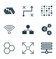 learning icons set with gear algorithm data vector image