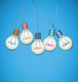 Light bulb idea background vector image vector image