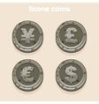 Main currencies symbols represented as shiny stone vector image vector image