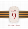 May 9 Victory Day realistic Holiday Banner vector image